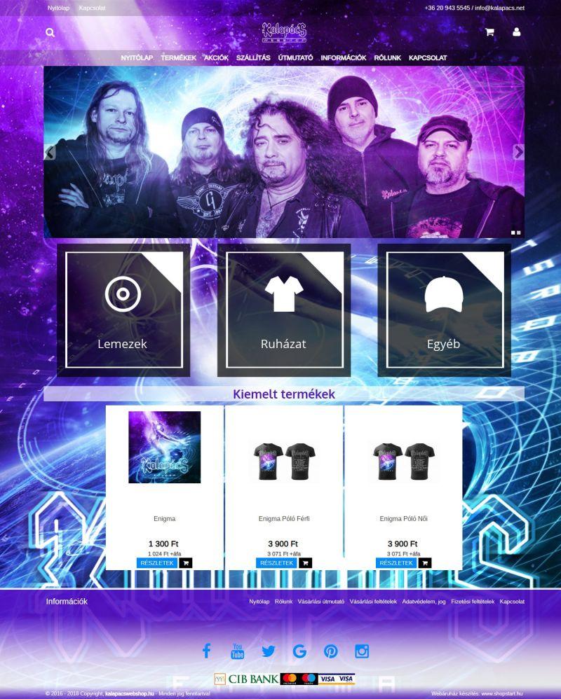 eb6a2d0ec8 Kalapács együttes webshopja (Webdesign Extra)