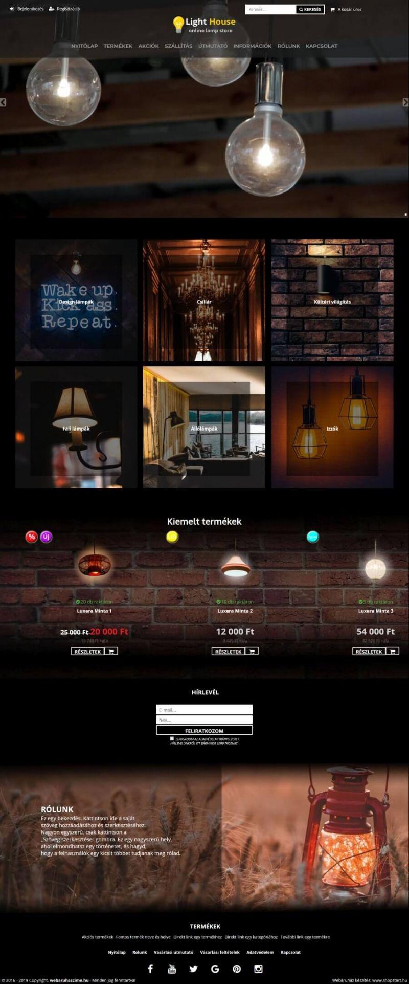 f630b28cdc Shopstart webáruház referenciák és minta webshopok
